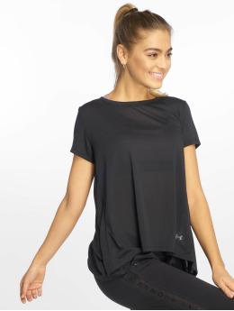Under Armour T-Shirt UA Whisperlight Foldover noir