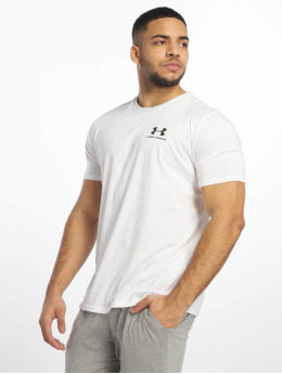 Under Armour T-Shirty Sportstyle Left Chest bialy