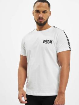 UNFAIR ATHLETICS T-Shirt Classic Label Taped  blanc