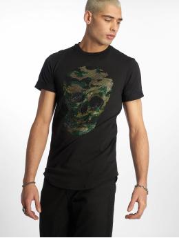 Uniplay T-Shirt Camo Skull noir