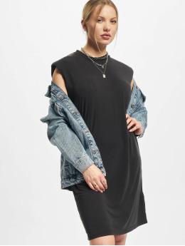 Urban Classics Šaty Ladies Modal Padded Shoulder Tank  čern