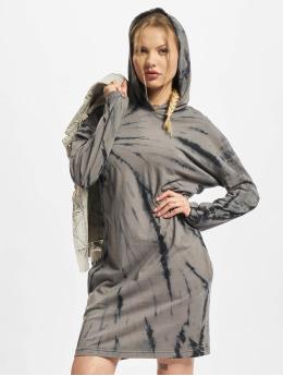 Urban Classics Šaty Ladies Oversized Tie Dye Hoody čern
