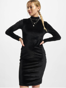 Urban Classics Šaty Ladies Velvet Turtle Neck  čern