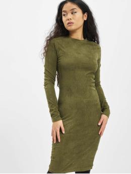 Urban Classics Šaty Ladies Peached Rib LS olivová