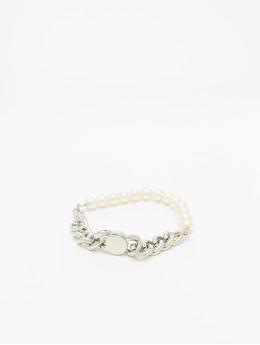 Urban Classics Браслет Pearl Flat Chain серебро