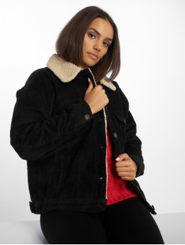 Urban Classics Демисезонная куртка Oversize Sherpa Corduroy черный