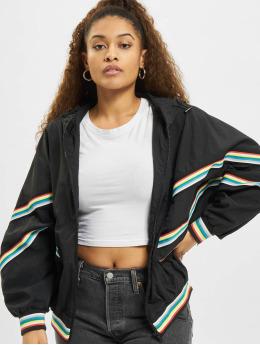 Urban Classics Демисезонная куртка Multicolor Rib Batwing черный