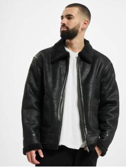 Urban Classics Кожаная куртка Shearling  черный