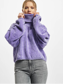 Urban Classics Пуловер Ladies Short Chenille Turtleneck пурпурный