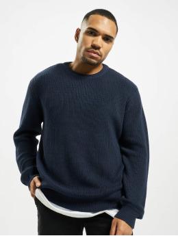 Urban Classics Пуловер Cardigan Stitch синий