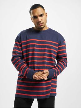 Urban Classics Пуловер Color Block Stripe Boxy синий