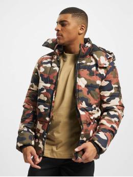 Urban Classics Стеганая куртка Hooded Camo камуфляж