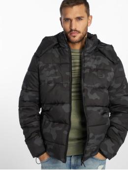 Urban Classics Стеганая куртка Hooded камуфляж