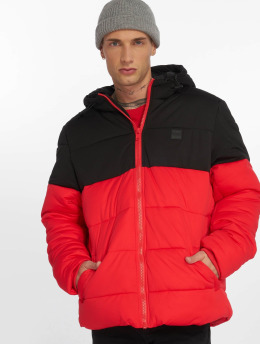 Urban Classics Стеганая куртка Hooded 2-Tone красный