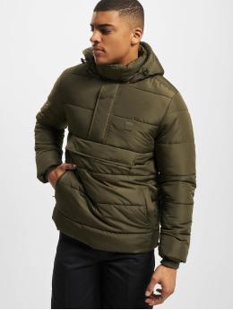Urban Classics Стеганая куртка Pull Over оливковый