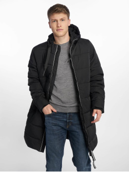 Urban Classics Стеганая куртка Hooded черный