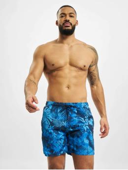 Urban Classics Badebukser Pattern  Swim Trunks blå