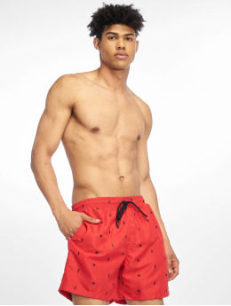 Urban Classics Badeshorts Embroidery Swim red
