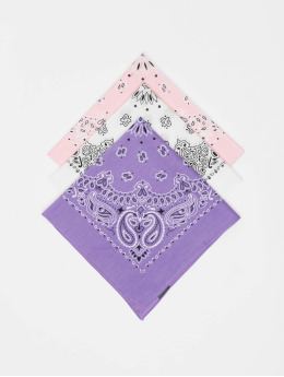 Urban Classics Bandana/Durag Multicolor Bandana 3-Pack  purple
