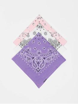 Urban Classics Bandana-huivit Multicolor Bandana 3-Pack  purpuranpunainen
