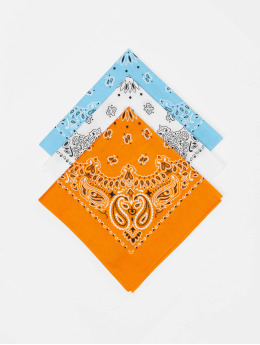 Urban Classics Bandany/Durags Multicolor Bandana 3-Pack pomaranczowy