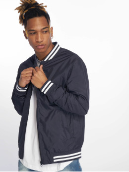 Urban Classics Basebalové bundy Light College Blouson modrá