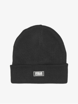 Urban Classics Beanie Plain Stitch Recycled Yarn  zwart
