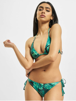 Urban Classics Bikini Ladies Triangle Pattern zielony