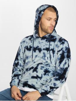 Urban Classics Bluzy z kapturem Velvet Tie Dye indygo