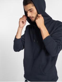 Urban Classics Bluzy z kapturem Basic Sweat niebieski