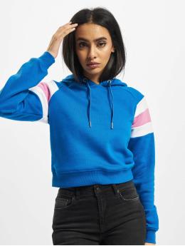 Urban Classics Bluzy z kapturem Ladies Sleeve Stripe niebieski