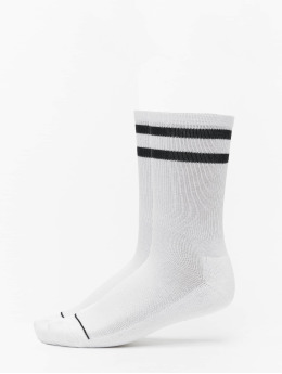 Urban Classics Calcetines 2 Tone College Double Pack blanco