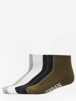 Urban Classics Calcetines High Sneaker 6-Pack negro