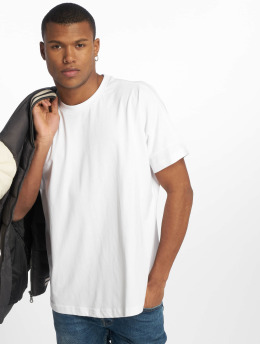 Urban Classics Camiseta Oversize Cut On Sleeve blanco