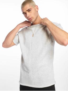 Urban Classics Camiseta HerirngboneTerry gris