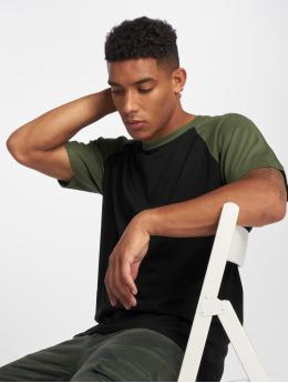Urban Classics Camiseta Raglan Contrast negro