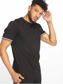 Urban Classics Camiseta Rib Ringer negro