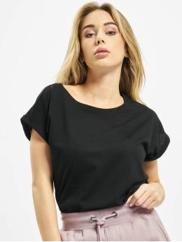 Urban Classics Camiseta Ladies Organic Extended negro