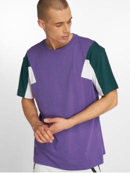 Urban Classics Camiseta 3-Tone púrpura