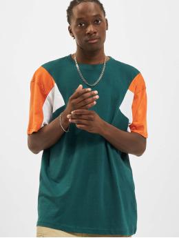 Urban Classics Camiseta 3-Tone verde