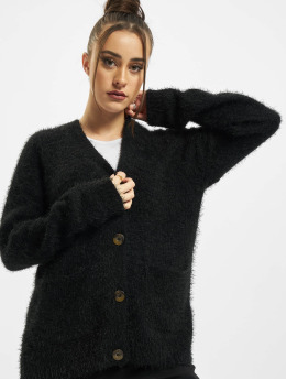 Urban Classics Cardigan Ladies Feather  black