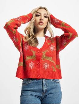 Urban Classics Cardigans Ladies Short Oversized Christmas red