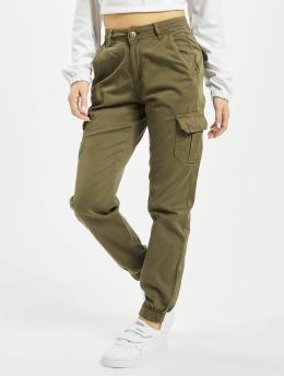 Urban Classics Cargo pants Ladies High Waist Cargo olivový