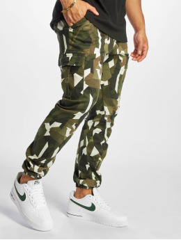 Urban Classics Cargobroek Geometric Stretch Twill camouflage