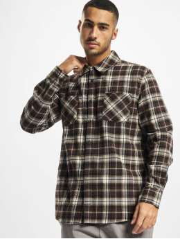 Urban Classics Chemise Checked Roots brun