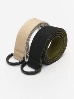 Urban Classics Cintura Easy D-Ring 2-Pack nero