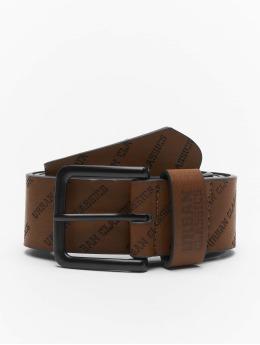 Urban Classics Cinturón Allover Logo marrón