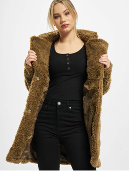 Urban Classics Coats Ladies Oversized Sherpa  brown