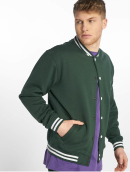 Urban Classics College Jacke Sweat grün