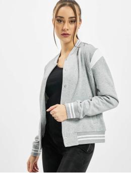 Urban Classics College jakke Ladies Organic Inset College grå